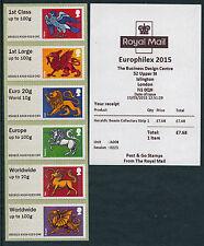 Europhilex 2015 TIII ARALDICA Beasts corruzione Set / 6 POST & GO
