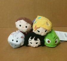 "Disney Parks Tangled Rapunzel Pascal 3"" Mini Tsum Tsum Set of 5 Plush Toy Dolls"