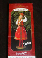 Keepsake Ornament Dolls of the World Russian Barbie Christmas 1999 Vintage