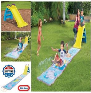 Little Tikes Wet & Dry First Slide All Weather Action 2 in 1 Indoor Outdoor