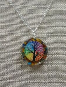 Orgone TREE OF LIFE Pendant Strengthen Heal Energy Protect inner peace chakra