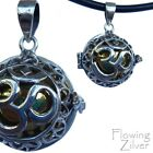 """925 SOLID Sterling Silver OM Chime Harmony Ball Pendant New """"Bali Forever"""""""