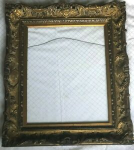 ANTIQUE ORNATE GILT WOOD CARVED FRAME BAROQUE STYLE 28 x 24