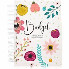 12 Month Money Budget Planner Spiral Organizer Notebook 24 Inner Pockets 5x7