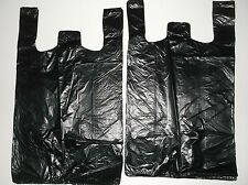 61 ct PLASTIC SHOPPING BAGS ,T SHIRT TYPE, GROCERY BLACK MEDIUM 1/8 SIZE BAGS.