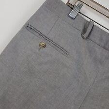 Bernard Zins Paris Ken Gray Pleated Cuffed Men's Dress Pants Size 34 x 28