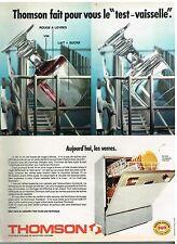 Publicité Advertising 1974 Le lave Vaisselle Thomson