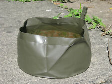 Dutch Army Folding Foldable Wash Water Bowl Travel Kit Collapsible Dog Camping