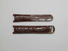 Replacement Cartier Pasha Cuir Veritable Burgundy Leather Band & Clasp 20mm