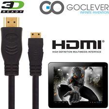 GoClever Tab A73, R103 Android Tablet PC HDMI Mini a MINI TV cable de plomo de alambre 5m
