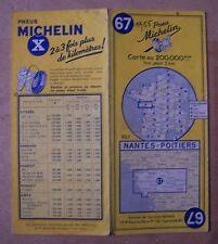 carte MICHELIN 67 NANTES - POITIERS 1955 (modèle n° 1)