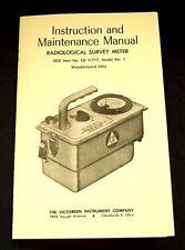 Cd V 717 Model Number 1 Radiological Survey Meter Manual 1964