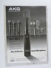 retro magazine advert 1988 AKG c 1000 s