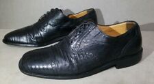 $795 Magnanni Black Genuine Lizard Cap Toe size 7 Us