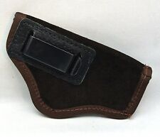 SUEDE LEATHER INSIDE THE PANTS GUN HOLSTER FITS .380 AUTOS Sigma, Kahr etc BROWN