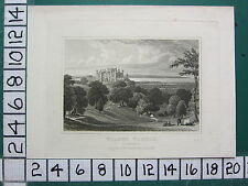 c1830 ANTIQUE YORKSHIRE PRINT ~ WILTON CASTLE ~ SEAT OF SIR JOHN LOWTHER M.P