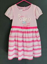 Girl's Gorgeous Pink & White Peppa Pig Dress - Size 4 - Brand: Target
