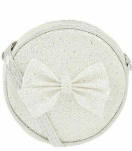 GIRLS-HAND BAG-ACCESSORIZE-SILVER GLITTER- PARTY-BRIDESMAID-SHOULDER BAG