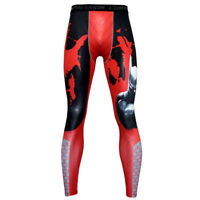 Men Boys Compression Sports Fitness Workout Pants Base Layer Trousers Leggings