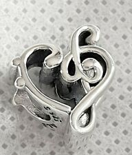 Sterling Silver Pandora Heart Music Note Charm