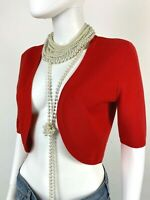 Michael Kors New 4 6 US 42 IT S Coral Stretch Knit Wool Cardigan Sweater Runway