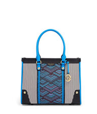 Henri Bendel Fashion Centennial Tote New NWT Blue Multi