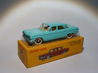 chevrolet corvair - ref 552 bleu turquoise + certificat 1/43 de dinky toys atlas