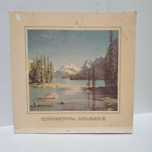 Vintage Continental Airlines Menu Pacific Northwest Breakfast 70s