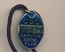 1982 1983 Carlton Football Social Club Enamel medallion badge 82 83