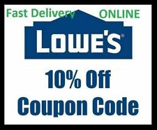 FIVE (5x) Lowes 10% Off Promotional Discount code- Lowe's expires end of August