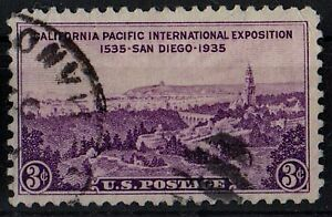US 1935 Scott #773 California Pacific Intl. Exposition San Diego 3 cents STAMP