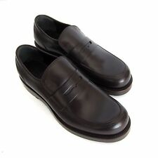 W-705270 New Gucci Sella Lux DK Cocoa Loafer Shoe Marked Size 7 US-8