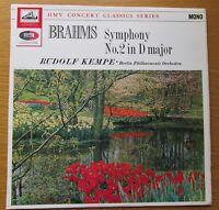 BRAHMS SYMPHONY No. 2 RUDOLF KEMPE BERLIN PHILHARMONIC UK VINYL LP 1970's HMV