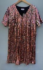 Universal Standard J Crew Dress Medium NWT Pink Sequin V Neck Shift NEW XXL