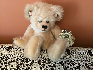 "STONEGATE TEDDY BEAR KIMBERLEY, FROM YORK IN 1994. PINK  MOHAIR JOINTED 10"" TALL"