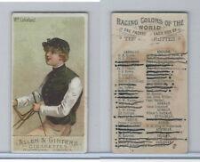 N22 Allen & Ginter, Racing Colors of the World, 1888, Wm. Lakeland, Jockey