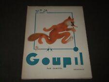 1950 GOUPIL PAR SAMIVEL FRENCH BOOK - NICE ILLUSTRATIONS - KD 4763