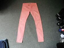 "Pull & Bear Slim Leg Jeans Waist 29"" Leg 32"" Faded Pink Ladies Jeans"