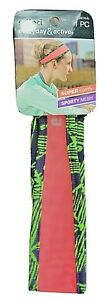 1x SCUNCI EVERYDAY & ACTIVE SPORTY TAPERED MESH WORKOUT NO SLIP HEADBAND