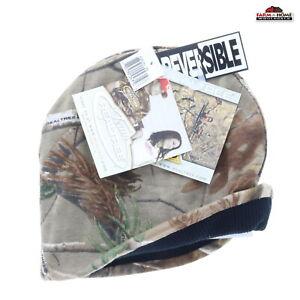 Reversible Knit Beanie Hat Cap Camo / Black ~ New