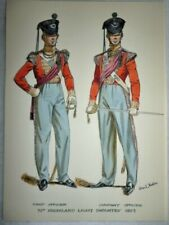 Original Military Watercolour, 71st Foot, Off. Highland Light Infantry, Stadden