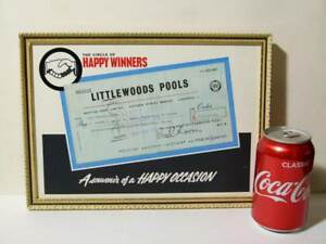 Martins Bank 1969 LITTLEWOODS POOLS Winner Cheque £7672.18.0d Sunderland