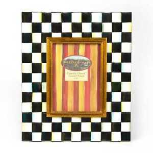 """MacKenzie-Childs Courtly Check Enamel Picture Frame 5""""x7""""  NEW"""