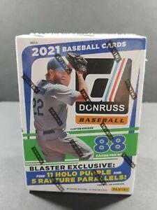 2021 DONRUSS PANINI BASEBALL BLASTER BOX SEALED 88 CARDS HOLO PURPLE