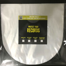 "Rounded 12"" Anti-Static plastic Inner Vinyl LP Record Sleeves (50 pieces)"