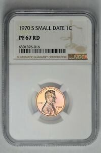 1970 S Small Date 1c Proof Lincoln Memorial Cent NGC PF 67 RD