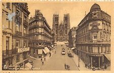 BR35962 Eglise et rue sainte gudule tramway Bruxelles belgium
