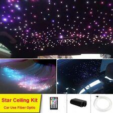 Car LED Fiber Optic Star Light Kit 16W Slim Music Engine 250 Strands .75mm*6.5ft
