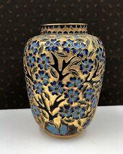 Superbe petit vase émaux cloisonnés décor floral CHINE XXe République