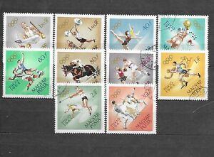 Hungary 1964 18th Olympic Games Tokyo CNH SC ## 1598-1606, B237